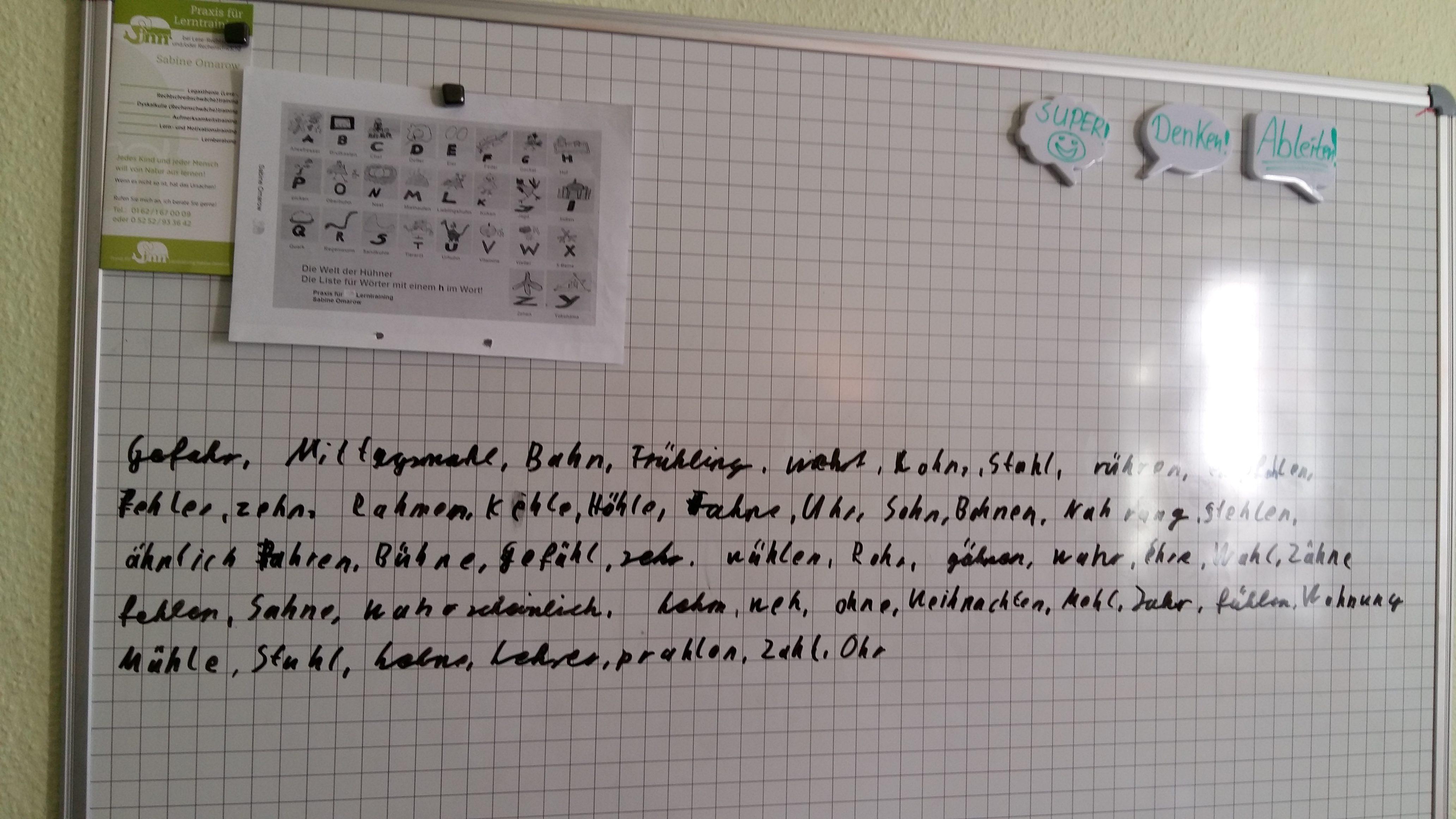 Rechtschreibung mit der Loci-Methode