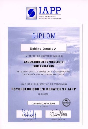 Psychologische Beraterin IAPP