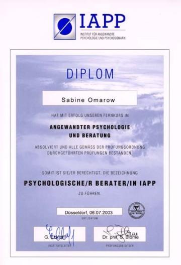 Psychologische Beraterin IAPP